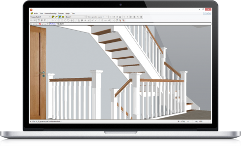 3D view of staircase made by Trappenmakerjij Eric Lauwers