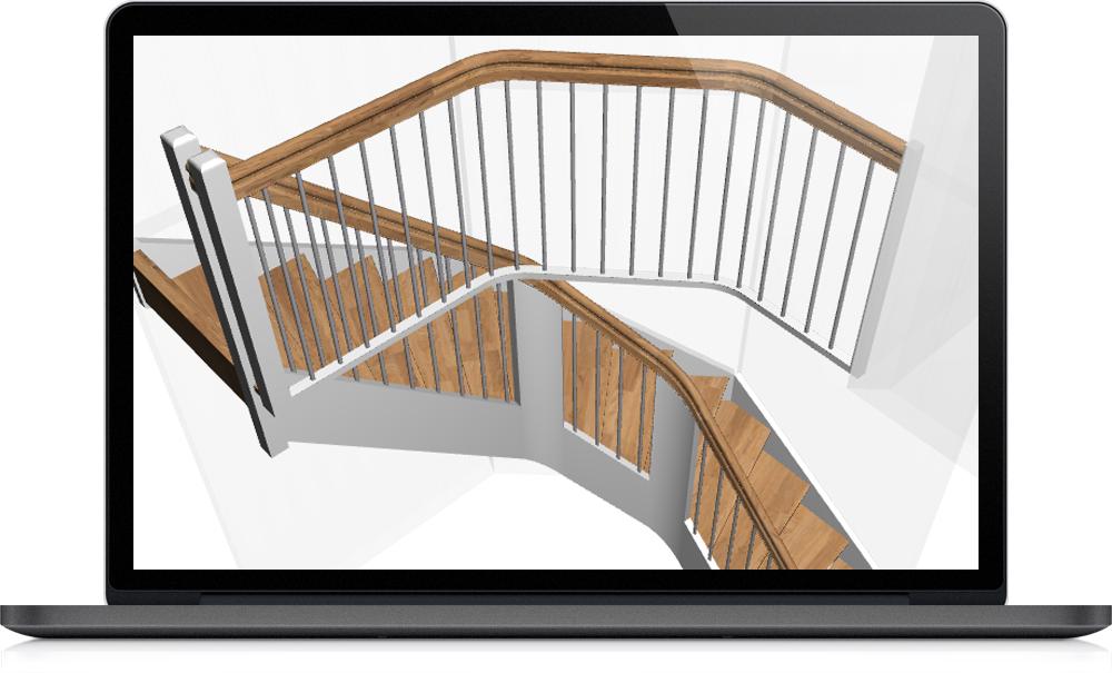 votre logiciel d escalier sur mesure modules suppl mentaires staircon. Black Bedroom Furniture Sets. Home Design Ideas