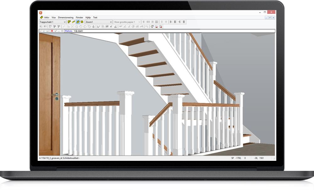 Staircon skärmavbild på laptop