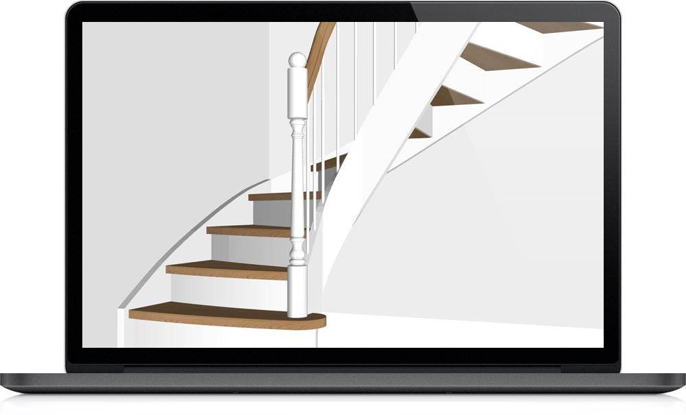 Staircon design och 3D exempel