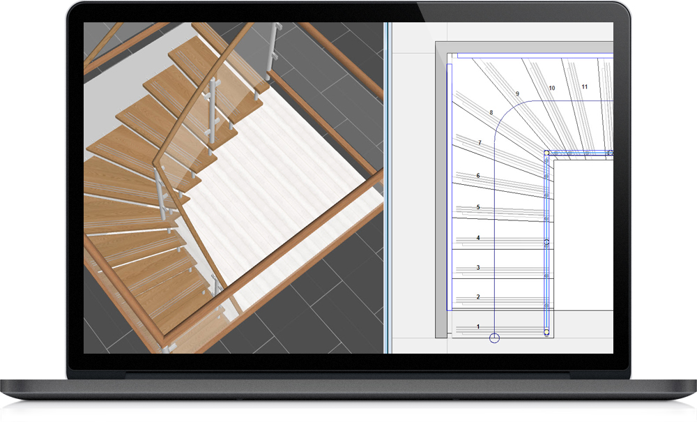 3d constructie en visiualisation staircon sales for Buitenste trap ontwerp